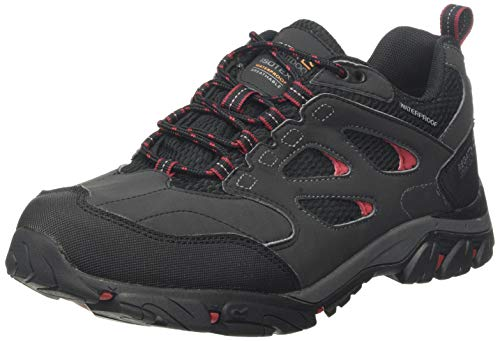 Regatta Holcombe Iep Low Rise Hiking Boot, Zapatillas de Senderismo Hombre, Gris (Ash/Rio Red 21n), 45 EU