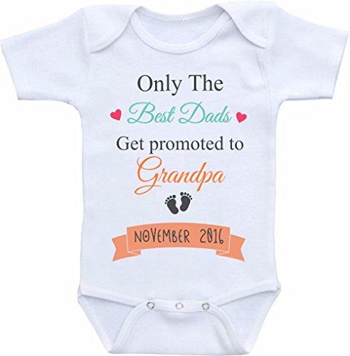 Promini Funny Only The Best Dads get Promoted to Grandpa Baby Body lindo bebé de una sola pieza mameluco bebé mejor regalo para bebé