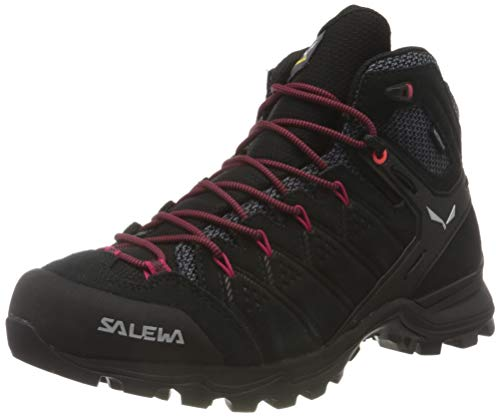 Salewa Damen WS Alp Mate Mid WP Trekking- & Wanderstiefel, Black Out/Virtual Pink, 38.5 EU