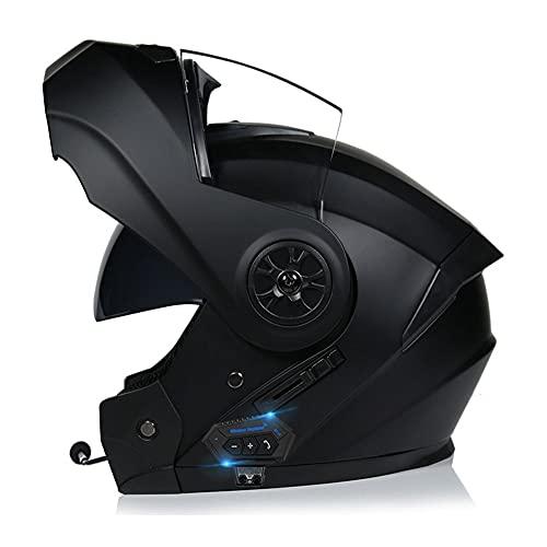BDTOT Bluetooth Integrado Casco de Moto Modular Dot/ECE Homologado con Doble Visera Intercomunicación Sistema de Comuni Adultos Unisex para Respuesta Automática Hombres Mujeres