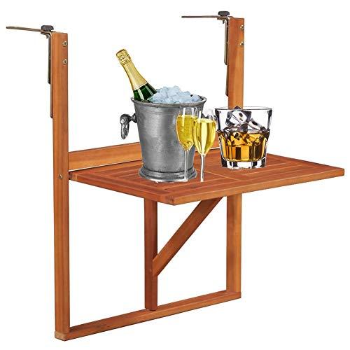 YAYADU-Storage Basket Pequeña colección mesas Plegables Cubierta w/Simple Soporte Sys almacenaje del Vino Café Rack Heavy Duty mesas portátiles Secundarios Balcón Patio Mesa de Comedor