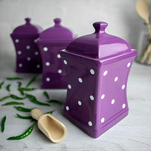 City to Cottage Purple and White | Polka Dot | Handmade | Large...