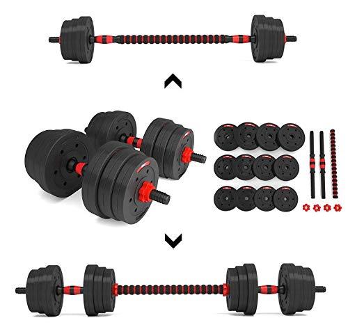 Timebreak Manubri Fitness e bilanciere con prolunga 20 kg, manubri assemblabili, Pesi variabili 20 kg