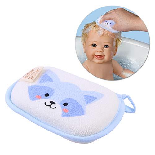 Cabilock Serviette de bain pour bébé éponge adoucissante stimulation naturelle mousse de bain pour bébé