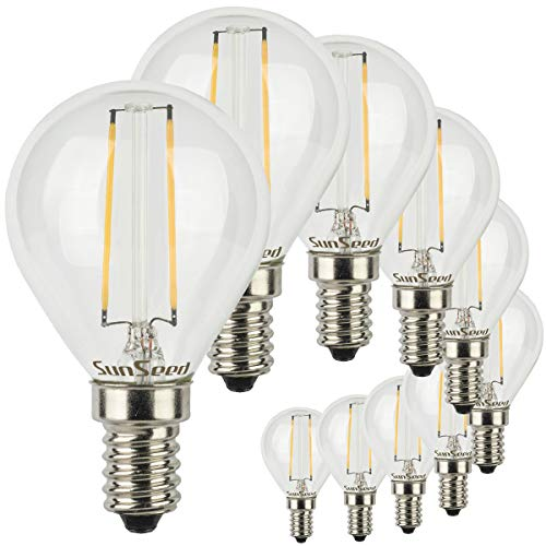 SunSeed® 10x Glühfaden LED Golfball-Lampe E14 2W ersetzt 25W Warmweiß 2700K