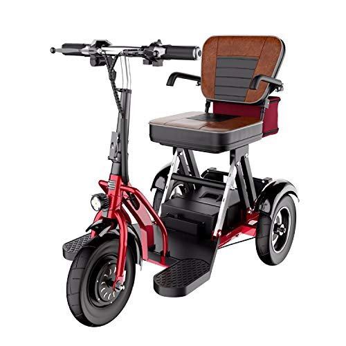 VIKE Motorized Scooters for the Elderly, The 3 Wheel Mobility Electric, Power Scooters for the Disabled Foldable - 300 W Motor - 20 Km/H - 3 Speed Adjustment - With Gear
