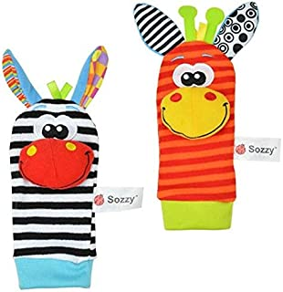 Infant Socks And Wrist Rattles Soft Toys Set