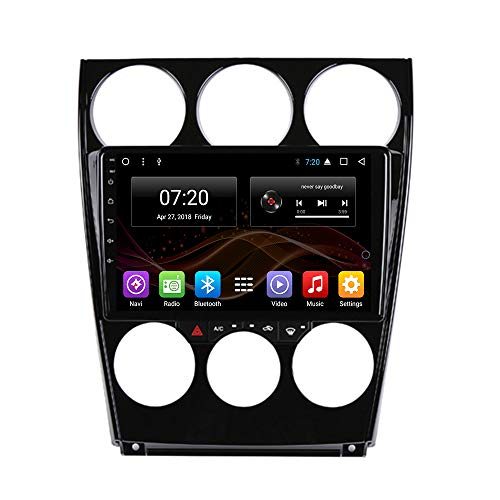 2.5D IPS Android 8.1 Octa Core Car DVD Radio GPS Navigation for Mazda 6 2002-2008 Stereo Audio Navi Video with Bluetooth Calling WiFi Touch Screen (Android 8.1 2+32G for Mazda 6 2002-2008)