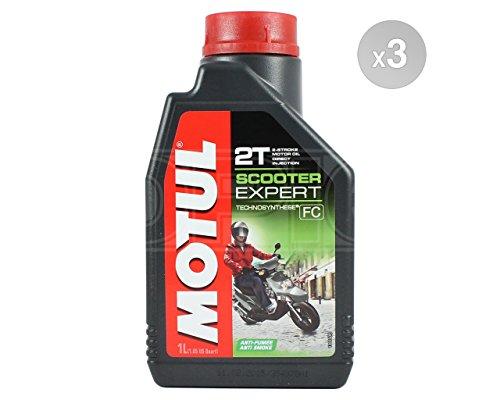 Motul Scooter Expert 2T - Aceite semisintético para motor (3 x 1 L)