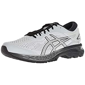 ASICS Men's Gel-Kayano 25 Running Shoes, 8, Glacier Grey/Black