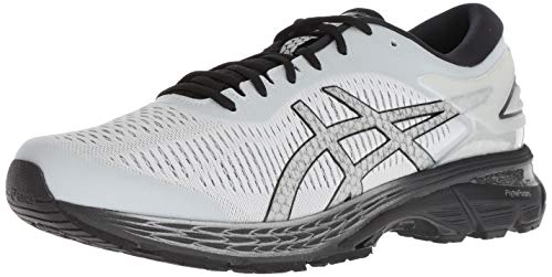 ASICS Men's Gel-Kayano 25 Running Shoes, 12M, Glacier Grey/Black
