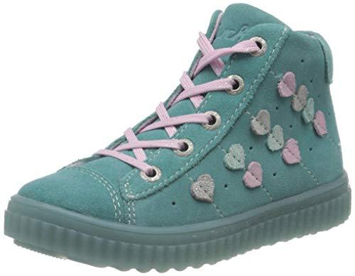 Lurchi Mädchen YES Hohe Sneaker, Blau (Caribic 29), 30 EU