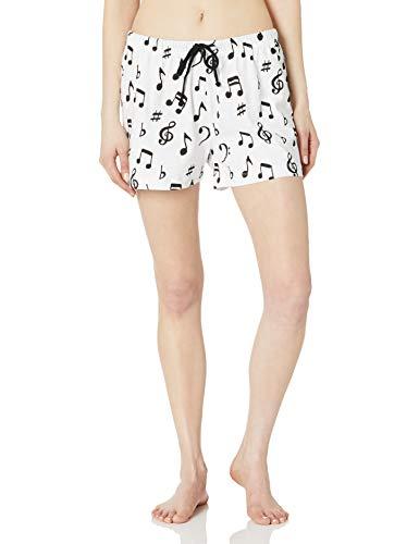 Hatley Little Blue House by Klassische Pyjama-Boxershorts für Damen - Wei - Medium