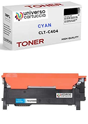 UniversoCartuccia® Toner Compatibile Rig. NO OEM Compatibile per Stampanti Samsung Xpress C430W SL-C430W C480 SL-C480fW SL-C480 SL-C480FN C432 C482 (CLT-C404S CYAN)