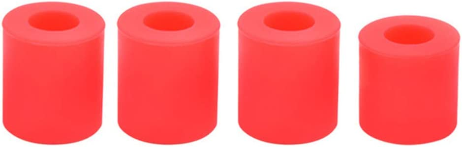 Leveling Silicone Column Set,3D Printer Accessories 3D Printing for 3 CR10 CR10S Hot Bed Leveling Column Shock Absorption Solid Spacer Leveler(red)
