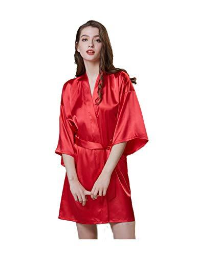 Dames Kimono Dressing Jurk Satijn Kimono Robe Lange Chinese Japanse Stijl voor Nachtkleding Meisjes Bonding Party Bruiloft Pajama Party