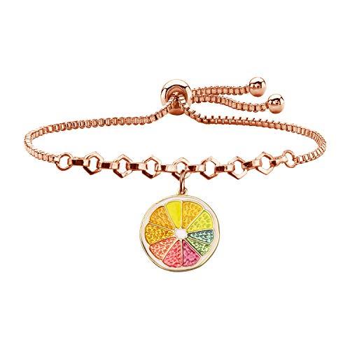 WSNANG Lemon Gift Lemon Slice Earring Cute Fruit Earrings Jewelry Fruit Style Earrings for Women Girls (Lemon Slider Bracelet RG)