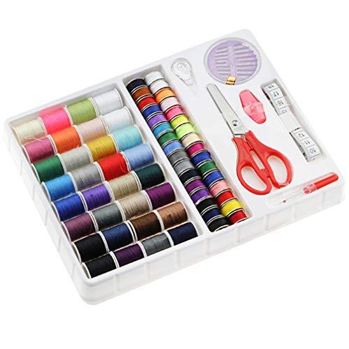 PRETYZOOM 1 juego de costura kit de agujas de coser hilos, enhebrador, herramientas de coser, suministros para el hogar, suministros para máquinas de coser suministros para viajes en casa