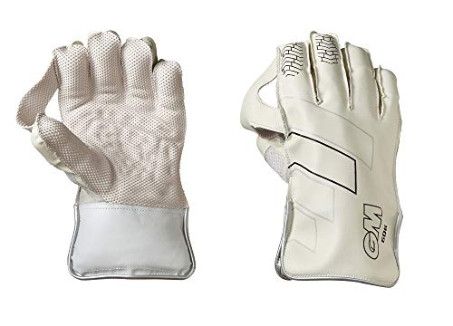 Gunn & Moore GM 606 Premium Wicket Keeping Gloves ' 2020 Edition (White Color)