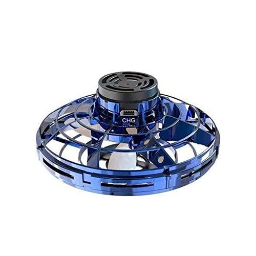 JIE Flying Gyro, Vuelo Libre Vehículo Inter-Vuelo, Inducción Gyro, Carga por USB, descompresión, platillo Volante giroscópico ( Color : Blue )