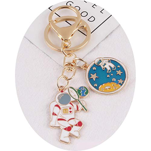 Earphone Case Cute Astronaut Keychain Pendant AirPods 2 for xiaomi AirDots Huawei freebuds Wireless Bluetooth Bag Accessories