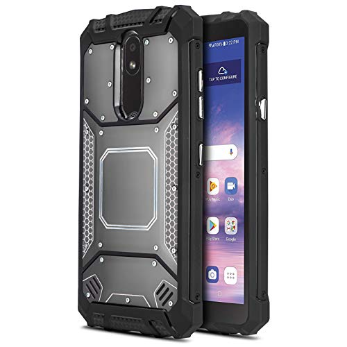 CasemartUSA Phone Case for [LG Journey LTE (L322DL)], [Alloy Series][Gun Metal] Aluminum Metal Plate Shockproof Cover for LG Journey LTE (Tracfone, Simple Mobile, Straight Talk, Total Wireless)