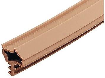 25 Metros - GedoTec Sello de la puerta habitación S 7210 para interior Junta marrón oscuro Ancho plegado: 12 mm termoplástico Elastómero (TPE) Calidad marca su Sala estar - 25 Meter - dunkelbraun