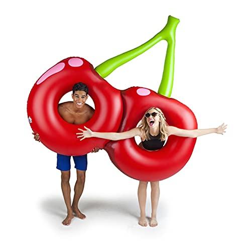 TYHCH Piscina de Cerezo Inflable Gigante Flotador Rojo Playa de la Playa Colchón de Aire Adulto Anillo de natación Agua Partido de Verano Juguetes (Balsas de la Piscina) (Color