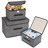 DIMJ 3 Stück Aufbewahrungsboxen mit Deckel und Griff