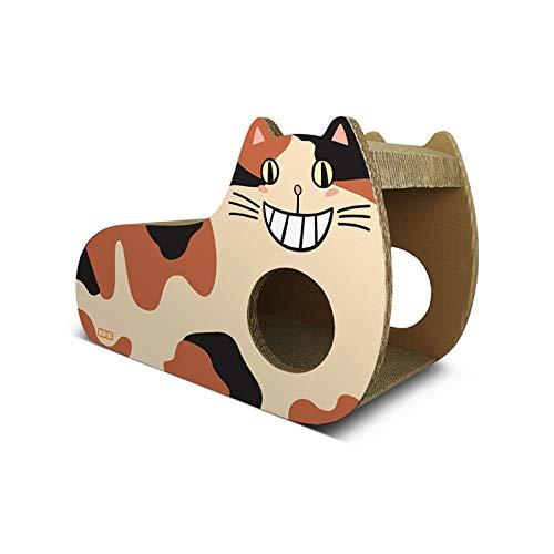 Ygccw Memory Foam Pluche Hond Bedden Hondenmand Bed Dekens Lounger Huisdier benodigdheden Verticaal golfpapier schattig kat nestbord speelgoed bruin, 56 * 24.5 * 36.5cm