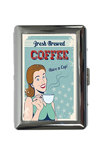 Zigarettenetui Box Kaffee Cafe Bar frisch gebrühter Kaffee Bedruckt