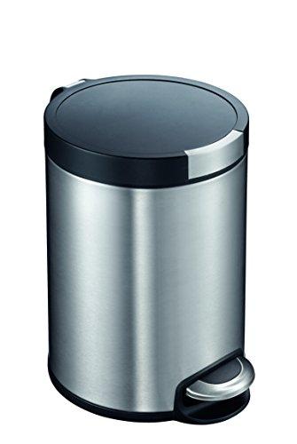 EKO VB 922530 Treteimer, 30 Liter, Edelstahl matt