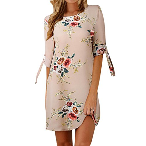 ESAILQ Damen Kleid Retro Ärmellos Kurz Brautjungfern Kleid Spitzenkleid (S,Khaki)