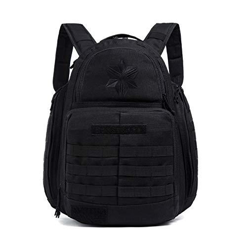 NaNa Tactical-Backpacks Hunting Molle Hiking Daypack Camping Multi-Space Purpose Travel Trips Military Assault Bag Black