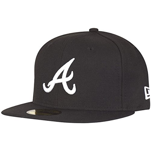 New Era 59Fifty Fitted Cap - Atlanta Braves schwarz - 7 1/4