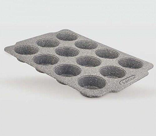 Life Style - Molde de Horno para Magdalenas - 12 Muffins - Acero al Carbono - Recubrimiento...