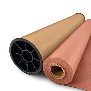 """Mighty Dreams Pink/Peach Butcher Paper Roll 24"""" x 150' - Unwaxed BBQ Meat Smoking & Wrapping Paper- 100% Food Grade Paper- Made in USA- Free Durable Carry Tube & eBook 