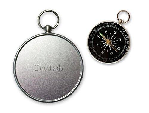 Pequeña brújula con grabado nombre de Teulada (ciudad / asentamiento)