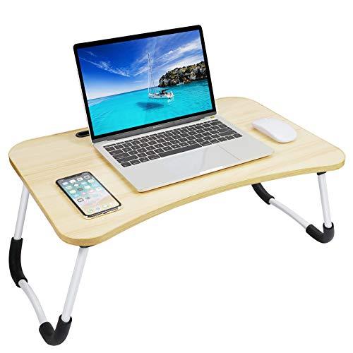 Gunolye Mesa de cama para ordenador portátil, bandeja para servir, portátil, mesa...