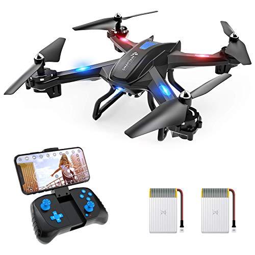 SNAPTAIN S5C 720P Drone con Telecamera HD FPV, Quadricottero WiFi Un Pulsante Decollo e Atterraggio, G-sensore, 3D Flip, Funzione di Hovering, Compatibile con VR Box, Adatto ai Principianti e Bambini