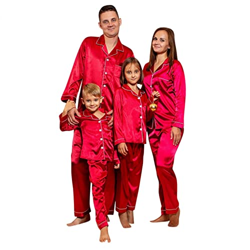 Weihnachtsoutfit Familie Set, Frottee Warm Schlafanzug Damen Herren Jungen Mädchen,Thermo Weihnachten Pyjama Kostüm Hausanzug Nachthemd Weihnachtspyjama Weihnachtspullover Weihnachtsoutfit