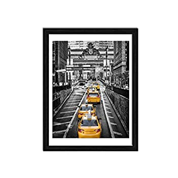 Finefrarm 12x16 Frames Display 11x14 Picture with Mat or 12 x 16 Photo Without Mats Black Picture Frames Wall Art for Living Room and Office Wall Mounting Decor