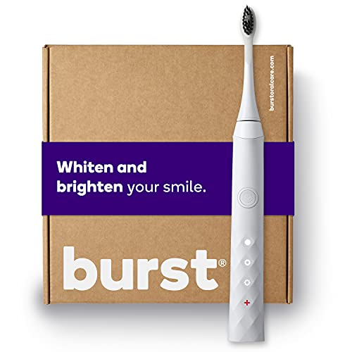 BURST Electric Toothbrush with Charcoal Sonic Toothbrush Head, Deep Clean, Fresh Breath & Healthier...