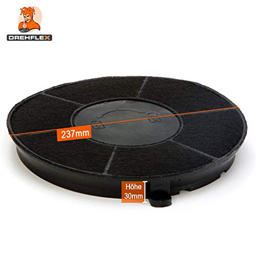 DREHFLEX® – Kohlefilter / Aktivkohlefilter – passend für Bauknecht / Whirlpool / Ikea – passend für 480122101262 // AMC037 AMC 037 - 2