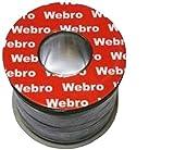 Webro Cable coaxial RG6 TV y satélites, 50 m, Color Negro