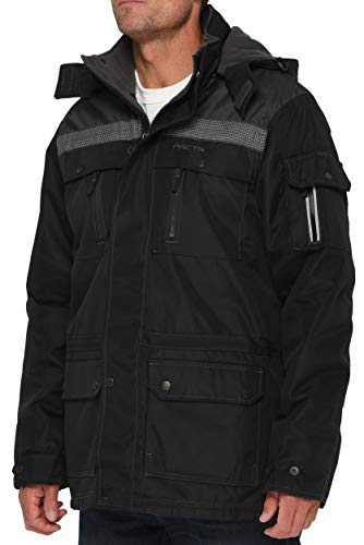Arctix Men's Performance Tundra Jacket With Added Visibility, Black/Charcoal, Large
