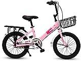 Bicicletas Bicicletas para niños, bicicleta para niños 16 pulgadas Primaria y secundaria Coche de 6 a 12 años, niños y niñas, deportes de bicicletas, bicicleta para niños (color: rosa, tamaño: 16 en)
