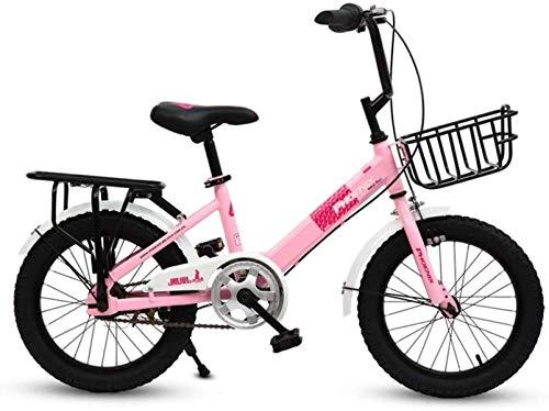 Bicicletas para niños, bicicleta para niños 16 pulgadas Primaria y secundaria Coche de 6 a 12 años, niños y niñas, deportes de bicicletas, bicicleta para niños (color: rosa, tamaño: 16 en)