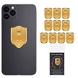 10PCs Anti EMF Radiation Protection Cell Phone Sticker, 5G EMF Shield Blocker Protector, 360 Round Block electromagnetic Waves for Mobile Phones, Radio, iPad, MacBook, Laptop, WiFi, TV... (10PCs)