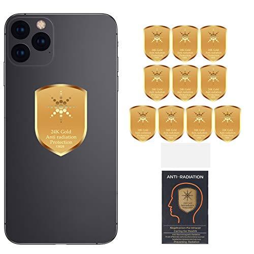 10PCs Anti EMF Radiation Protection Cell Phone Sticker, 5G EMF Shield Blocker Protector, 360 Round Block electromagnetic Waves for Mobile Phones, Radio, iPad, MacBook, Laptop, WiFi, TV. (10PCs)